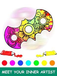 Fidget Spinner Mandala Coloring Book - náhled