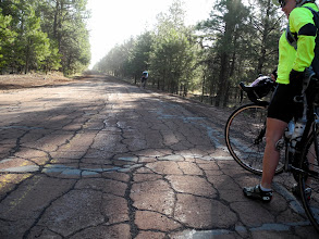 Photo: Paved again, but maybe not better than the dirt