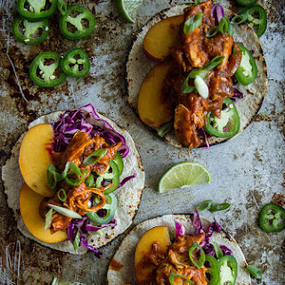 Peach Chipotle Chicken Tacos.