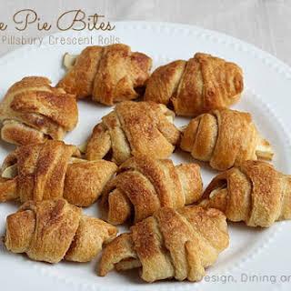 Apple Pie Bites Made With Pillsbury Crescent Rolls.