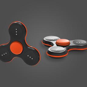 Orion Black/Orange Cap by Justin Kifer - Artistic Objects Technology Objects ( technology objects, product, technology, colorful, color,  )