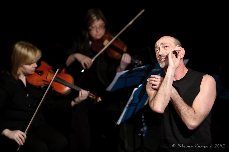 """Photo: Cliff LeJeune and the Blue String Quartet - performing """"The Songs of Leonard Cohen"""""""