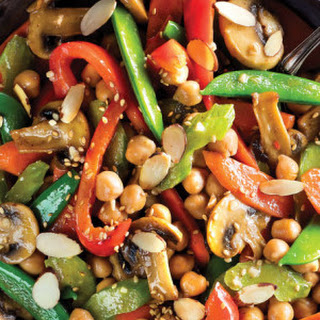 Kung Pao Chickpea Stir-Fry Over Sesame-Fried Millet