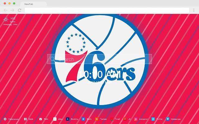Philadelphia 76ers New Tabs HD NBA Themes