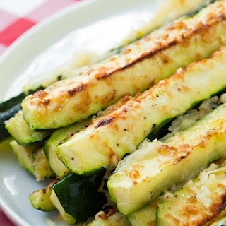 Garlic Lemon and Parmesan Oven Roasted Zucchini.