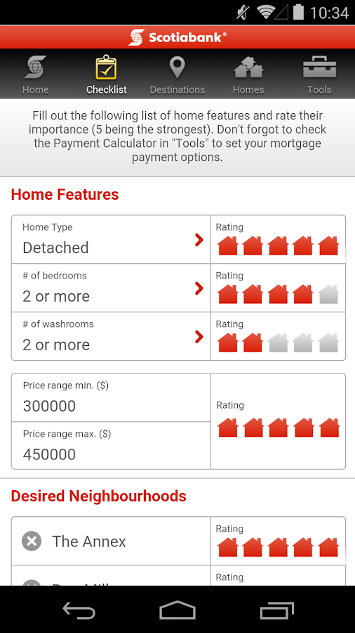 Scotiabank Dream Home Finder- screenshot