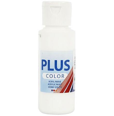 Hobbyfärg Plus color - vit, 60 ml