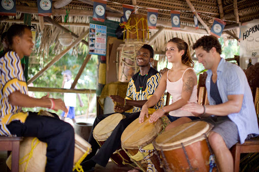 Belize-drum-lessons.jpg - Drumming lessons on Caye Caulker, Belize.
