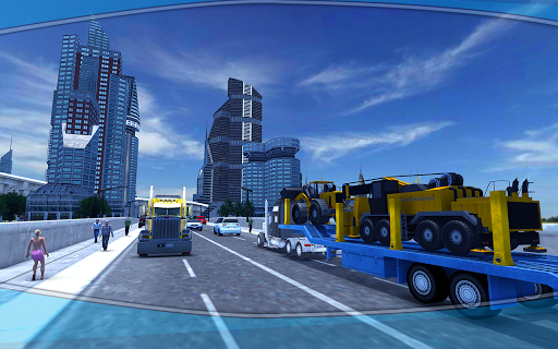 Heavy Machinery Transporter Truck Simulator 1 screenshots 2
