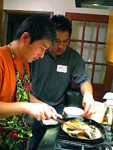 Photo: Hiro & Doug toasting