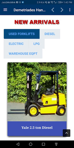 Used Forklifts Demetriades Handling UK screenshot 8