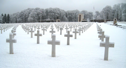 Photo: Luxembourg American Cemetery - 5,076 US WWII soldiers including Gen. George S. Patton - and only one woman/nurse Nancy Leo.