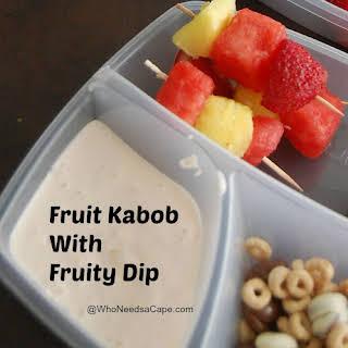 Easy Healthy Fruit Kabob & Dip.