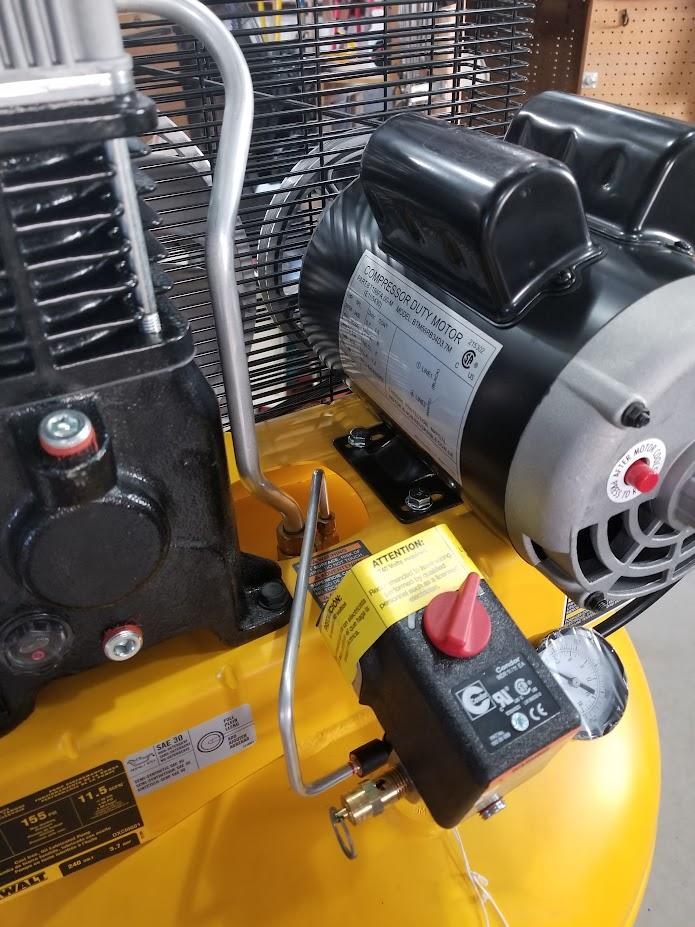 [DIAGRAM_38IU]  New Install Dewalt 60 Gallon Air Compressor - The Garage Journal Board   Dewalt Air Compressor Wiring Diagram      The Garage Journal