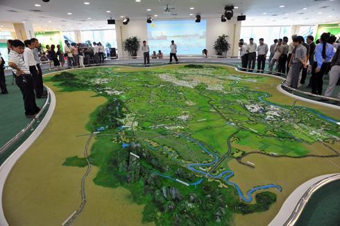 Mô hình sa bàn quy hoạch 1 vùng đô thị