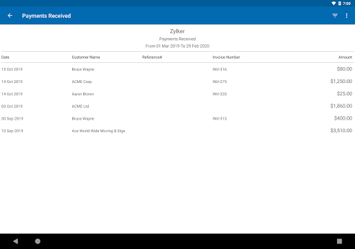 Zoho Invoice - Online Invoicing & Billing Software 5.23.07 screenshots 13