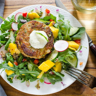 Key Lime Mango Crab Cake Salad