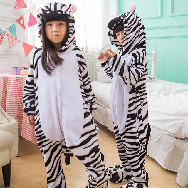 Kombinezony dla dzieci-zebra