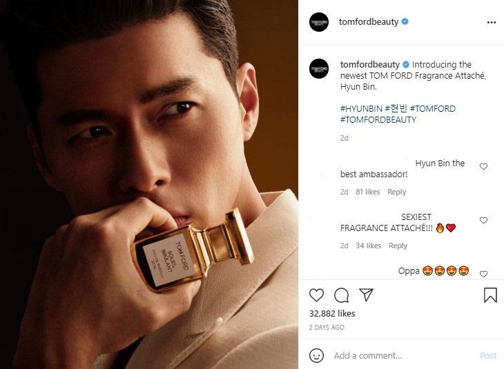 Hyun Bin trở thành đại sứ thương hiệu nước hoa Tom Ford ở châu Á Thái Bình Dương  - Ảnh 1