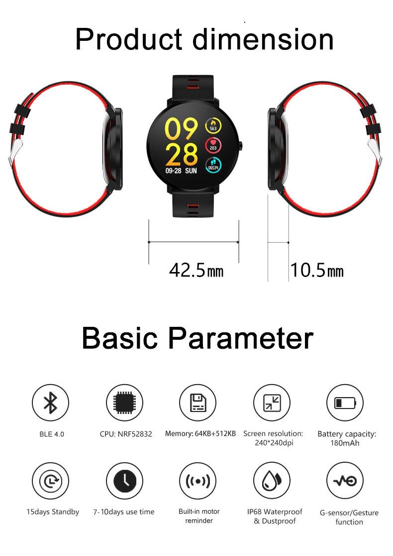 SANDA Super Slim Smart Watch Men Waterproof Sports