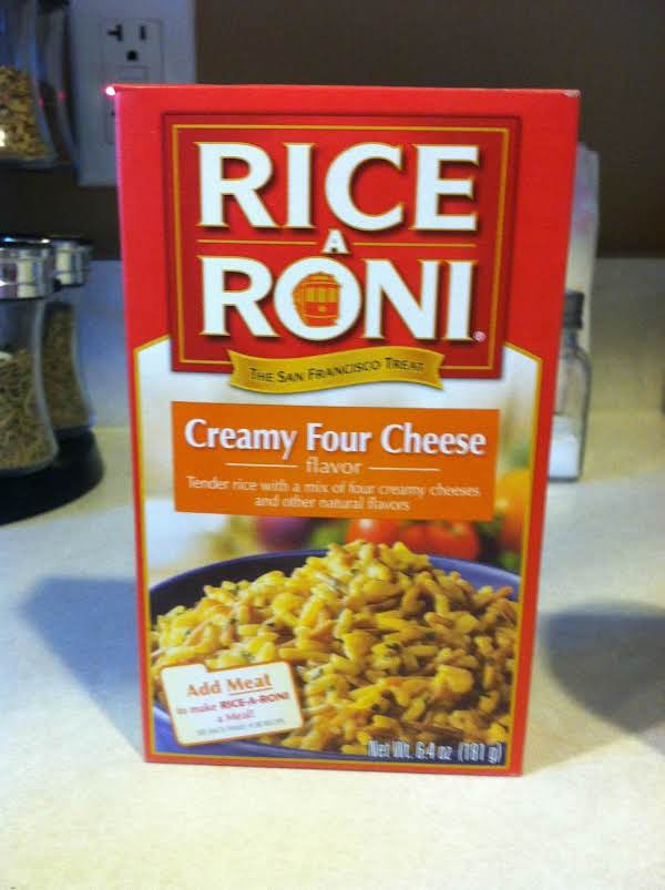 Christines cheesy chicken rice recipe just a pinch recipes cook rice on stove top according to box directions when the rice is ccuart Image collections