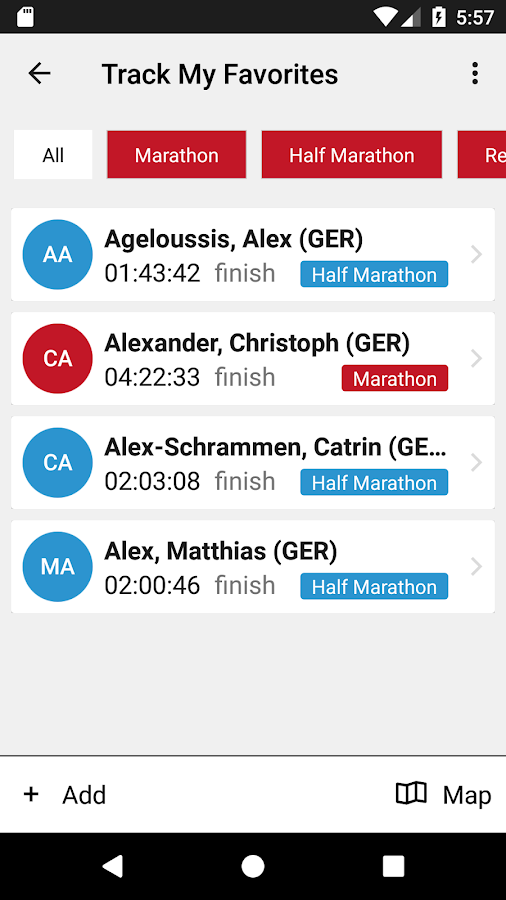 Köln Marathon- screenshot