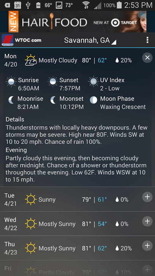 WTOC Doppler Max 11 Weather - screenshot
