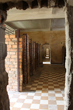 Photo: Year 2 Day 35 - All the Rooms with Individual Brick Cells in S-21 Prison