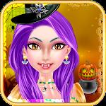 Crazy Halloween Girl Party Icon
