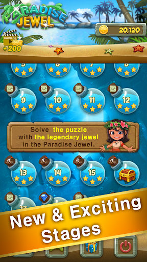 Paradise Jewel: Match 3 Puzzle - screenshot