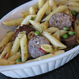 Sausage & Penne in Garlic Olive Oil