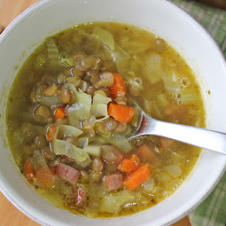 Lentil, Cabbage & Sausage Soup Recipe