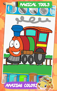Cars coloring pages : Cartoon drawing for kids