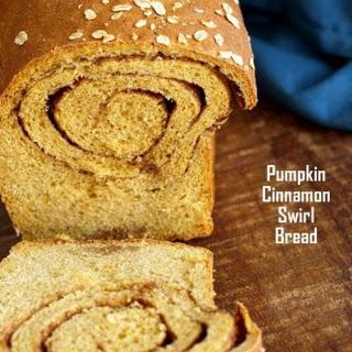 Pumpkin Cinnamon Swirl Bread - Yeast Sandwich Bread.