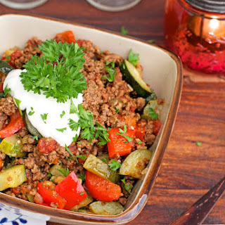 Mexican Ground Beef Zucchini Skillet.