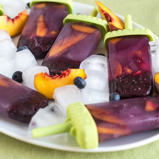 Blueberry And Peach Green Tea Ice Lollies.