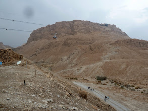 Photo: Masada, a Jewish stronghold, was nearly impervious to attack. The only way up was a narrow trail (still used today) to climb over 1,000 feet to the top.