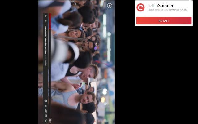 Netflix Flip - Rotate Netflix in Your Browser