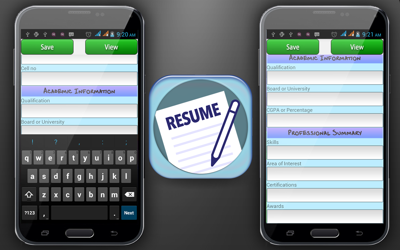 Screenshots of Curriculum Vitae Maker for iPhone