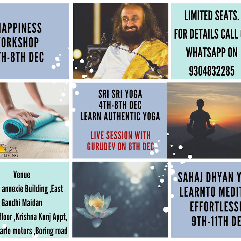 ART OF LIVING, Patna - Sudarshan Kriya,Meditation and Yoga