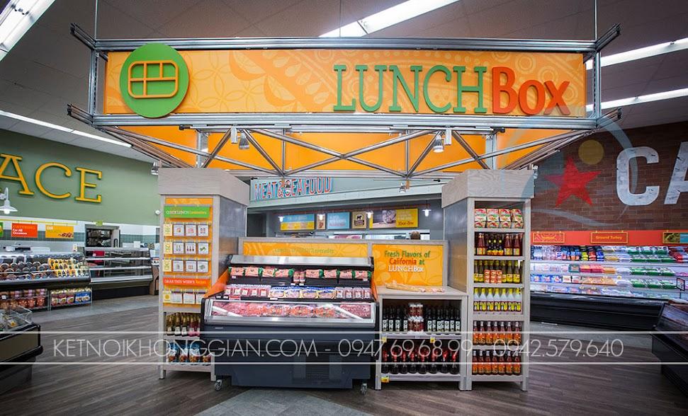 thiết kế siêu thị mini nổi bật