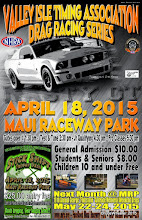 "Photo: Bruce Wheeler's photos from the April 18, 2015 Drag Races at Maui Raceway Park.  PLEASE NOTE: these images are fully copyrighted, by the photographer. Usage without formal permission is prohibited by law. (IN OTHER WORDS; try ask fo' use 'em...please.)  DVDs of all full-size, high resolution images are available dirt cheap. For pricing, please inquire c/o wheelerdealer @ maui-angels . com  For Maui Raceway Park track info online: http://www.mrp.org   For Maui Raceway Park on Facebook: https://www.facebook.com/maui.raceway.park?fref=ts  To see all of my online Maui drags and travel photography albums go here: http://www.maui-angels.com/wheelerdealer/photoalbums.html  Please visit my Wheeler Dealer AA/Fuel Dragsters web pages: http://www.maui-angels.com/wheelerdealer  And, please ""like"" the Wheeler Dealer Facebook page: https://www.facebook.com/pages/Bruce-Wheelers-Wheeler-Dealer-AAFuel-Dragsters/119133934834675?ref=ts&fref=ts  Poster art Mark Caires Designs"