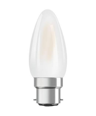 Osram Retrofit Classic LED Kron B22d 4,5W 2700K dimbar