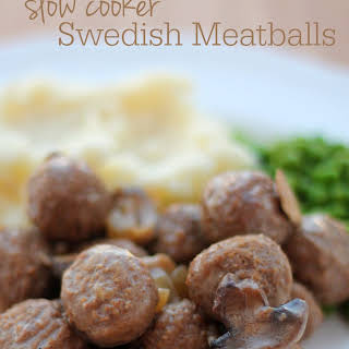Slow Cooker Swedish Meatballs.