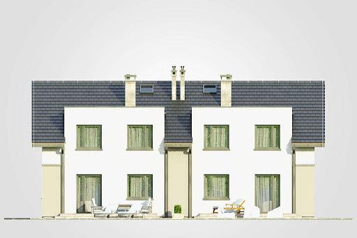 Double House III - Elewacja tylna