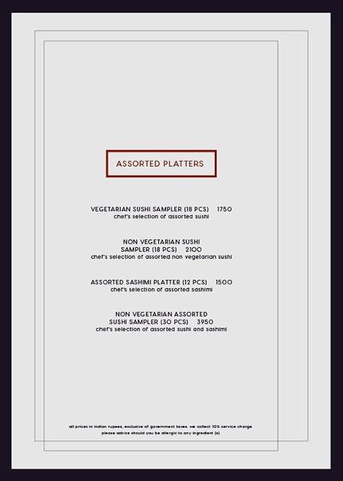 Kampai menu 10