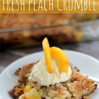 Fresh Peach Crumble
