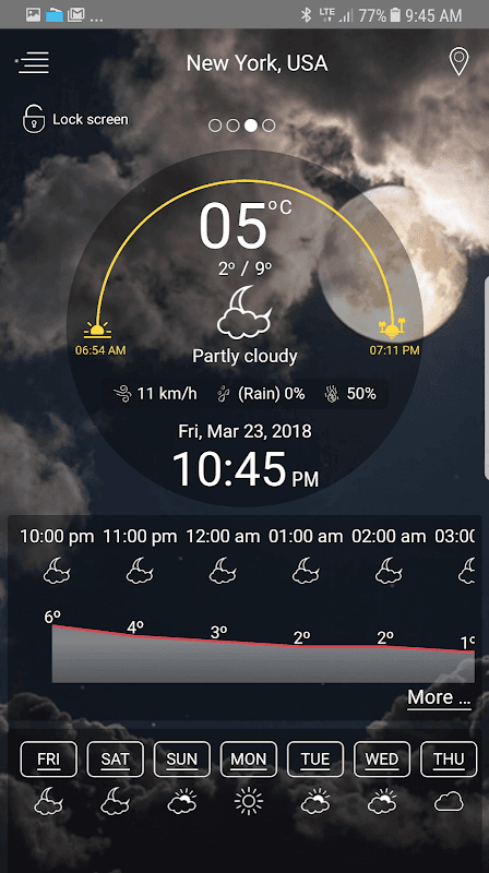 Weather - unlimited & realtime weather forecast screenshots