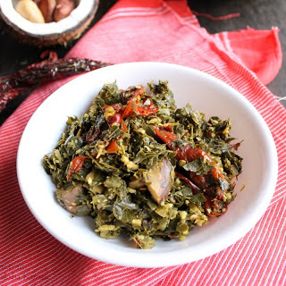 Goan Maskachi Bhaji Recipe (Moringa Leaves Stir Fry With Jackfruit Seeds)