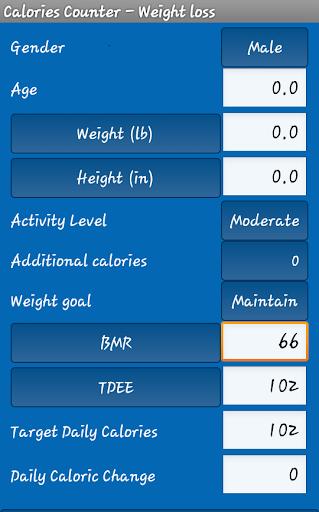 Daily Calories Weight loss-Cal